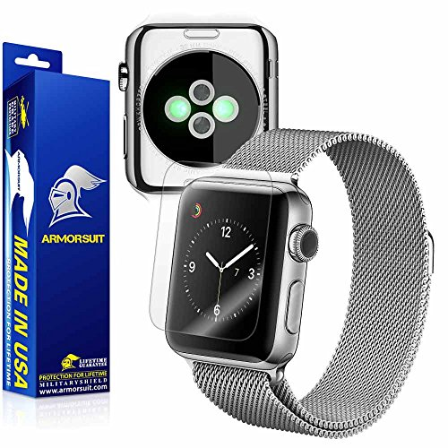 Apple Watch 38mm (Series 2) Screen Protector + Full Body, ArmorSuit MilitaryShield Full Skin + Screen Protector For Apple Watch 38mm (Series 2) -HD Clear Anti-Bubble by ArmorSuit
