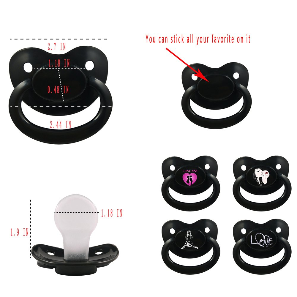 TEN@NIGHT Adult Baby Pacifier ABDL Silicone Pacifier for Adult