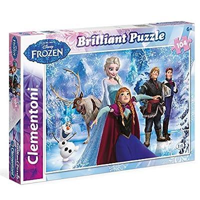 Clementoni 625108 - Puzzle Classique Brillant - 104 Pièces - La Reine des Neiges
