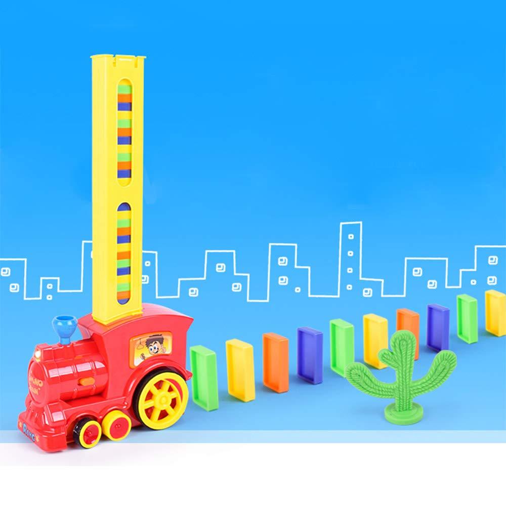 Dominos Rally Electric train avec modulateur automatique Pendule d/échecs empilage jouet DE jouer Ensemble de train pour enfants Intelligence /éducation et d/éveloppement
