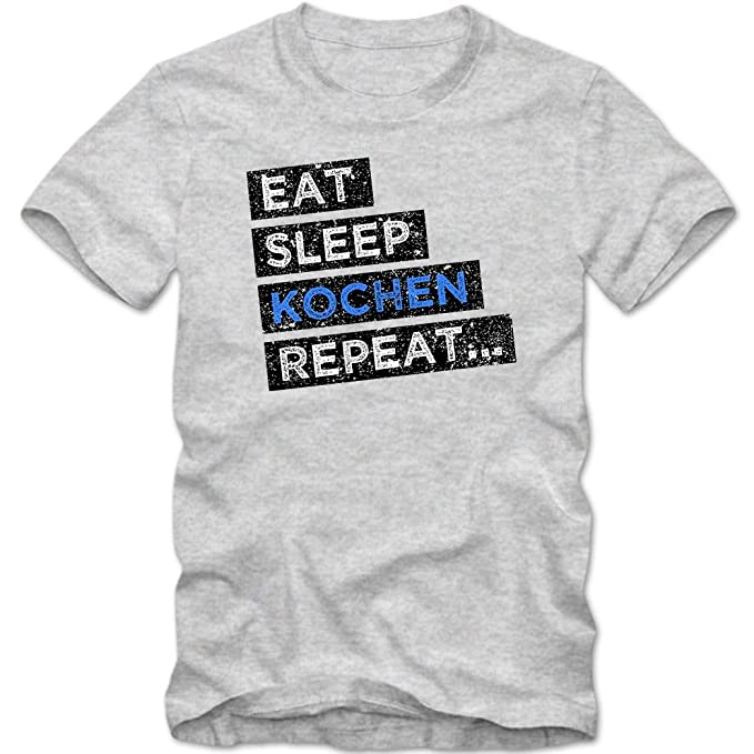 Hobby Kochen #1 T-Shirt Koch-Shirt Eat Sleep Repeat Kochprofi Herren Shirt:  Amazon.de: Bekleidung
