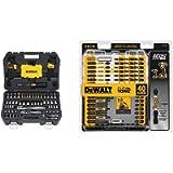 DEWALT Mechanics Tools Kit and Socket Set, 108-Piece (DWMT73801) & Screwdriver Bit Set, Impact Ready, FlexTorq, 40-Piece…
