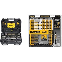 $69 » DEWALT Mechanics Tools Kit and Socket Set, 108-Piece (DWMT73801) & Screwdriver Bit Set,…