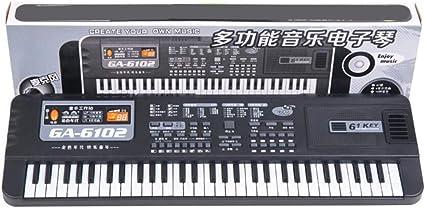 Auplew Teclado electrónico de 61 Teclas, Instrumento para ...