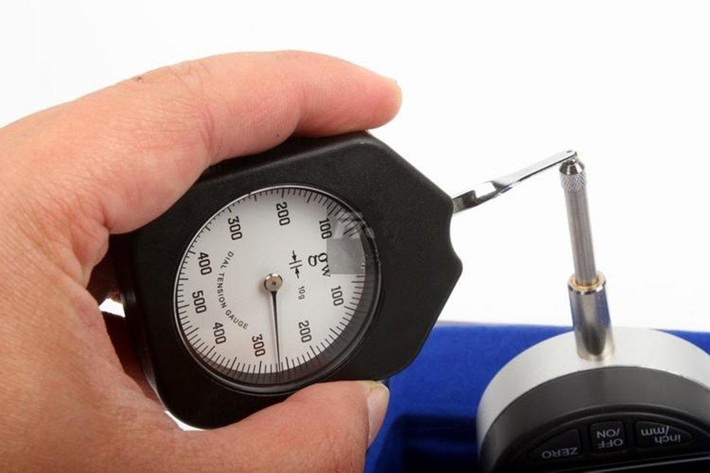 Lateral Medidor de Tensi/ón dinam/ómetro M/étricas Newton Medidor de Tensi/ón sistema de medici/ón de la fuerza Newton unidad doble aguja con Peak Hold funci/ón