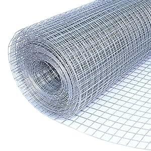 ALEKO Mesh Wire Roll Cloth 16 Gauge Steel 50 Feet Long 40 Inch Height 1 Inch Mesh
