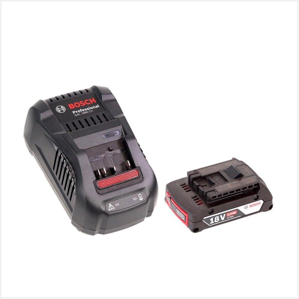 Bosch Rabot GHO 18/V-LI Professional Batterie dans coffret L-Boxx avec Gal 1880/CV Chargeur rapide et 1/x GBA 2/Ah Batterie