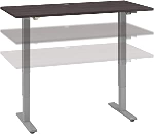 Bush Business Furniture Move 40 Series Height Adjustable Desk, 60W x 30D, Storm Gray