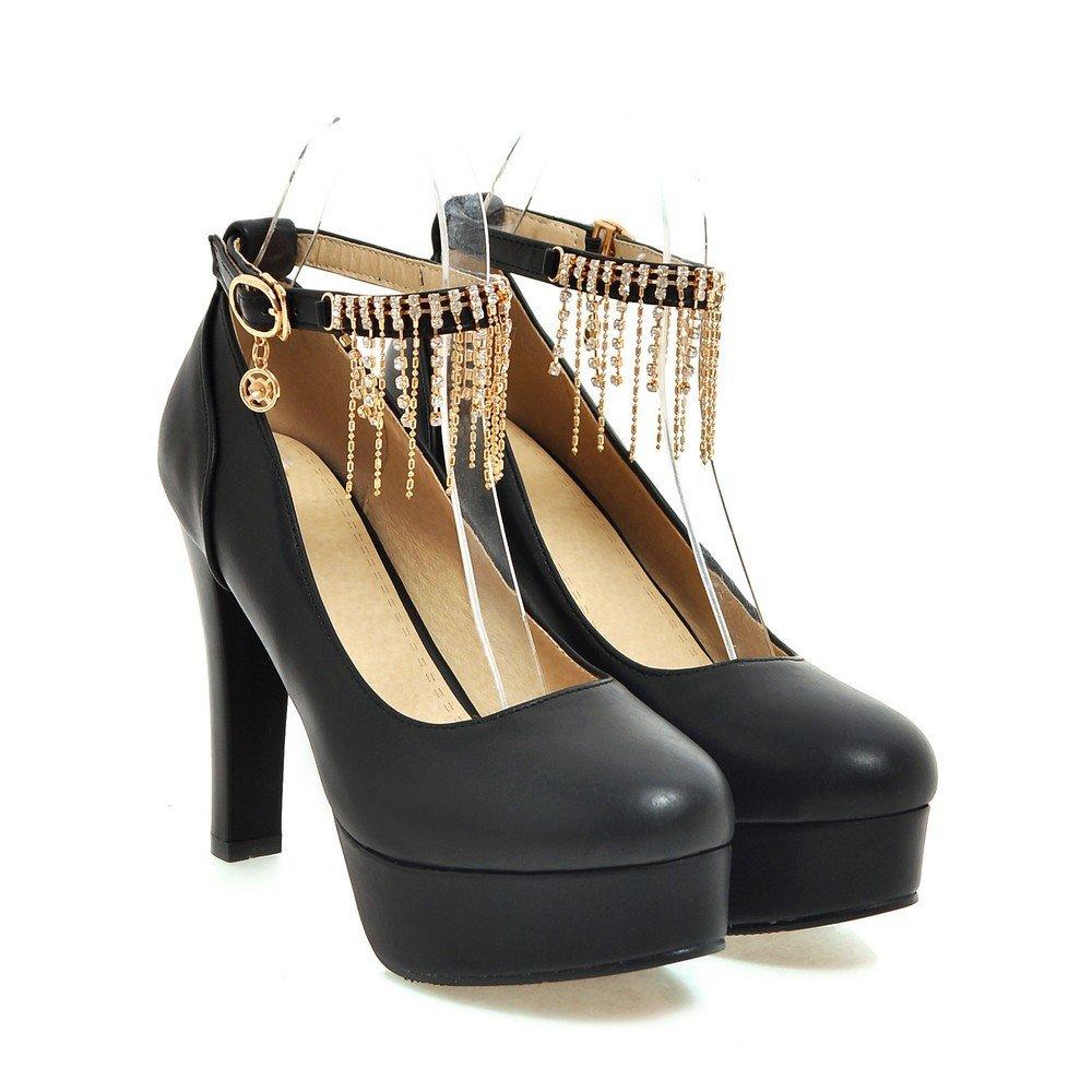 CXQ-Heels QIN&X Block der Frauen High High High Heels Flache Mund Party Hochzeit Hof Plattform Schuhe Pumps d56440