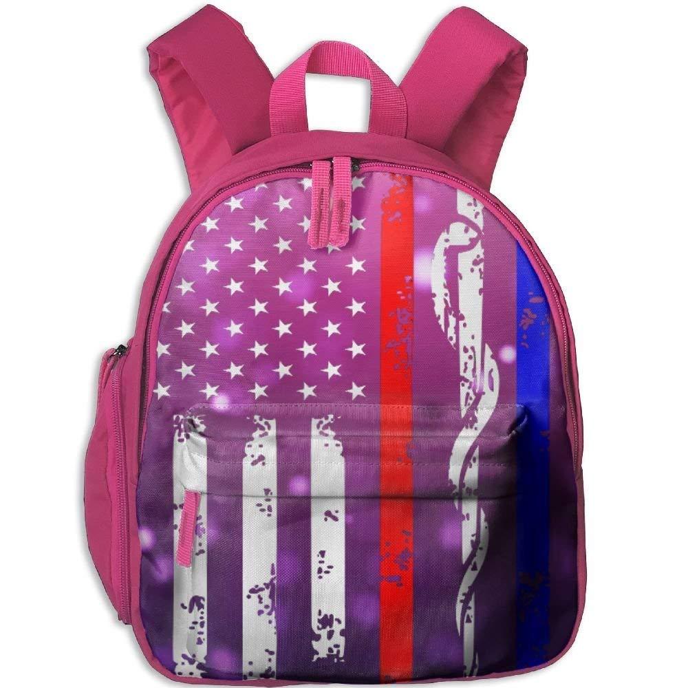 Police & Firefighter Firefighter Firefighter & EMT Flag Toddler Mini Backpack Shoulder Schoolbag with Front Pockets B07LGVXK91 Daypacks Diversifiziertes neues Design 499342
