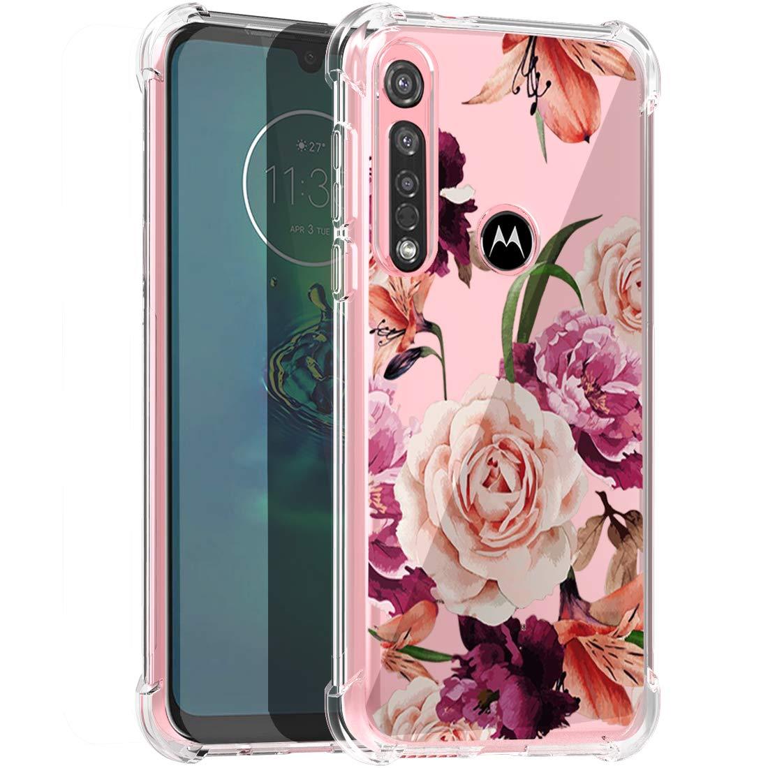 Funda Protectora De Flores Para Motorola G8 Plus