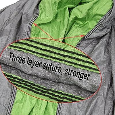 YISCOR Camping Hammock - Lightweight Portable Nylon Parachute Hammock for Backpacking, Travel, Beach, Yard, Hammock Straps & Steel Carabiners Included