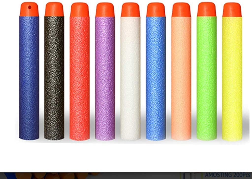 Swity Home Refill Darts Bullet Foam Bullet Ammo Pack Nerf Compatible Foam Toy Darts for Nerf N-Strike Elite Series Zombie Strike Rebelle 100 pcs (Mixed Color)