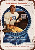 Eddie Cantor for PBR and Football Vintage Look Reproduction Metal Tin Sign 8X12 Inches