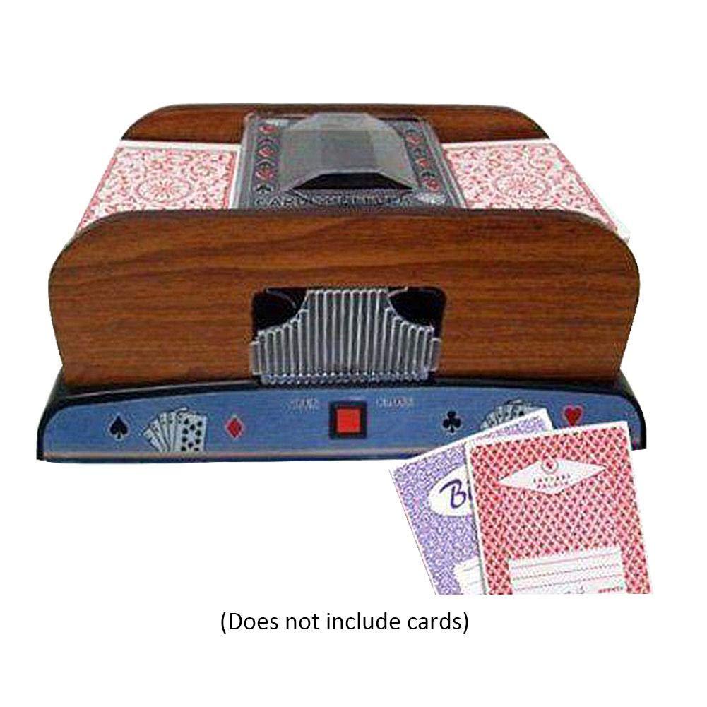 Dough.Q Poker Card Automatischer Kartenmischmaschine 2 Decks Elektrische Mischmaschine als Kartenmischgerä t batteriebetrieben zum Mischen von Karten beim Pokern(schwarz)