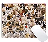 Wknoon Dogs Galore Mouse Pad Cute Puppies Pets Mouse Pads
