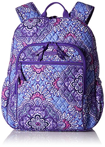 Women's Campus Tech Backpack, Signature Cotton, Lilac Tapestry by Vera Bradley