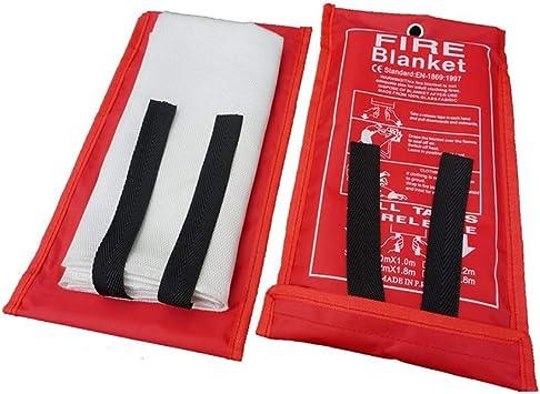 exteriores y coches Manta ign/ífuga de HLHome de fibra de vidrio manta de emergencia de tela a prueba de fuego para casas
