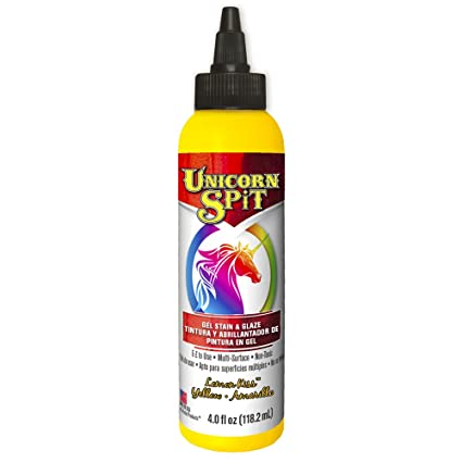 Unicorn Spit 5770004 Gel Manchas & Esmalte Limón Kiss 4.0 FL OZ botella