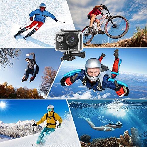DROGRACE Sports Camera Wifi Video Camera 30fps HD for Youtube Digital Camera Accessories Kit 12MP 6G