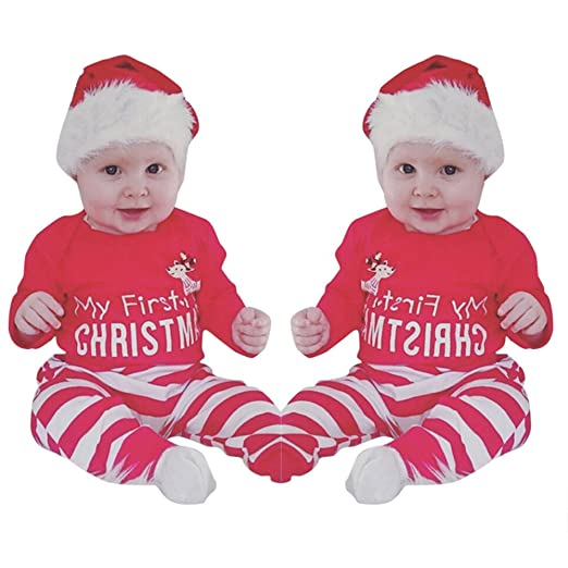 Mealeaf ❤ Toddler Christmas Outfits Newborn Baby Girls Boys Clothes Deer  Romper + - Amazon.com: � Mealeaf � Toddler Christmas Outfits Newborn Baby