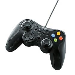 エレコム ゲームパッド USB接続 Xinput/DirectInput両対応 Xbox系12ボタン振動/連射 ブラック JC-U3613MBK
