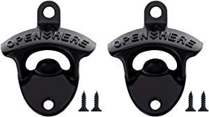Beer Bottle Openers 2PCS Wall Mounted Classic Bar Accessories Home Bar Essential Beer Bottle Openers With 4 Screws