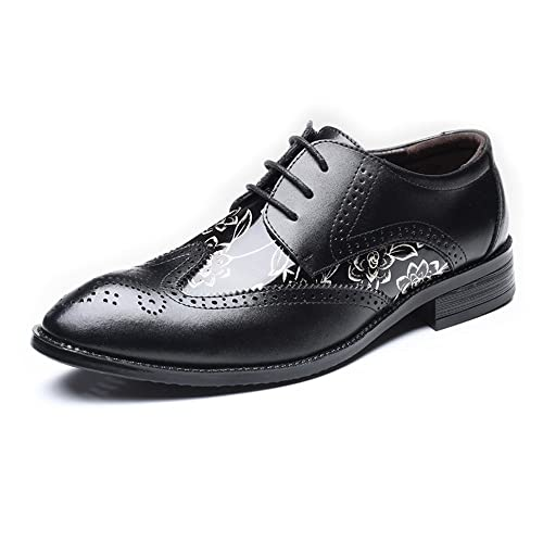 b549eb2883a2 Hilotu Men's Dress Shoes, 2019 Perforated Lace-up Wingtip Floral ...