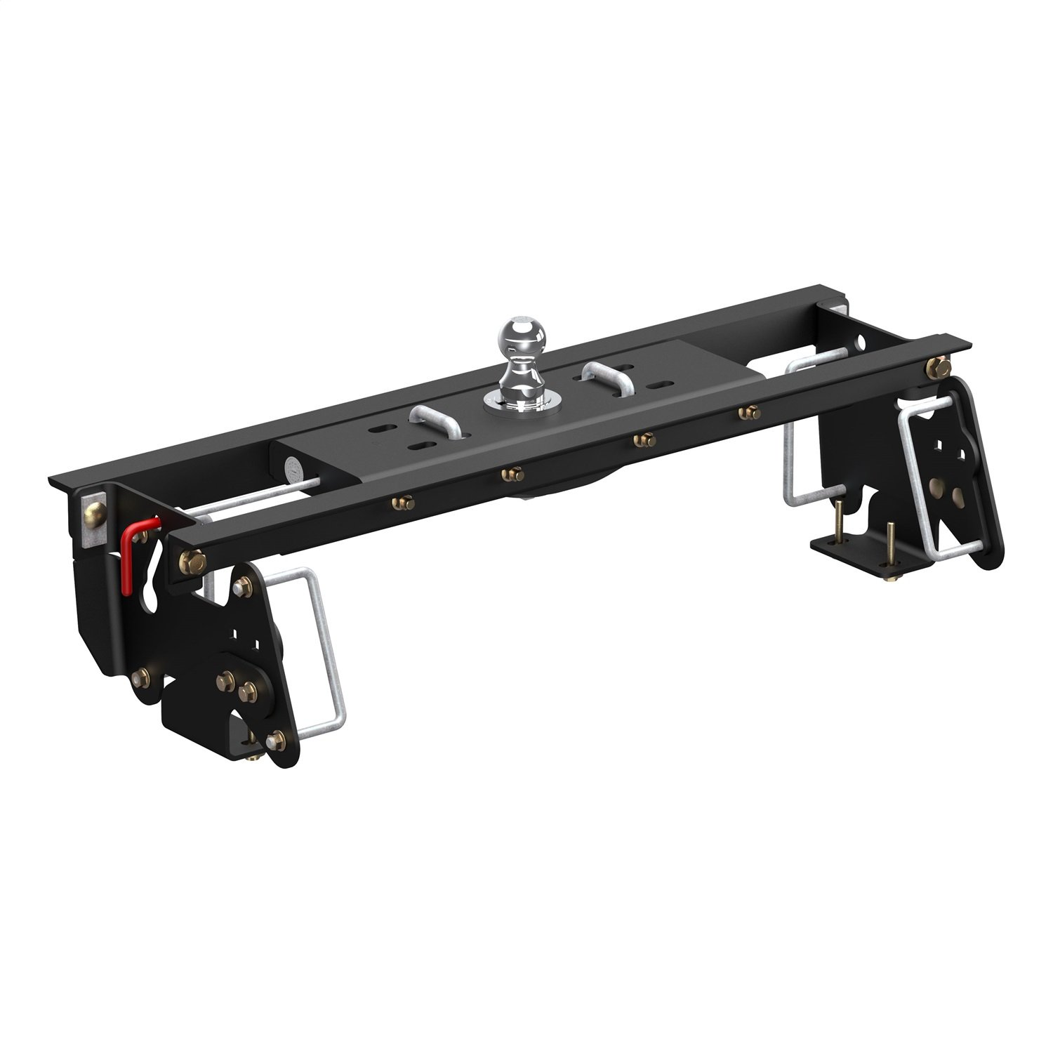 CURT 60682 Double Lock EZr Gooseneck Hitch with Flip-and-Store Black 30,000 lbs, 2-5/16-Inch Ball, Fits Select Ram, Dodge Ram 2500, 3500 Kit