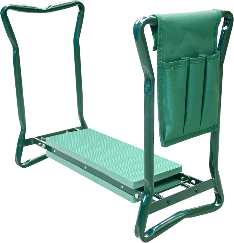 Futurebatt Garden Kneeler and Seat with Thicken Widen Soft Kneeling Pad, Foldable Stool with Bonus Tool Pouch
