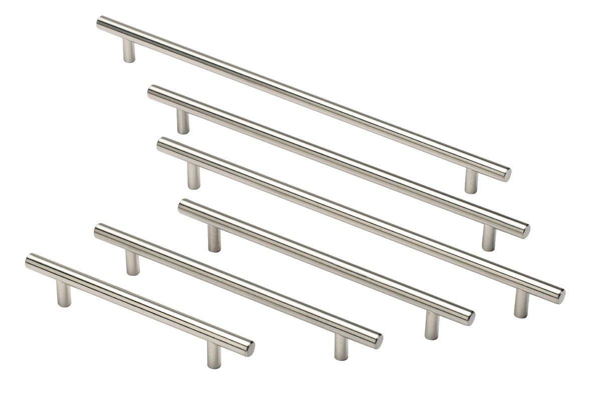 Kitchen Door Handles Chrome Solid Metal Chrome Colour T Bar Kitchen Door Handles 10 Different