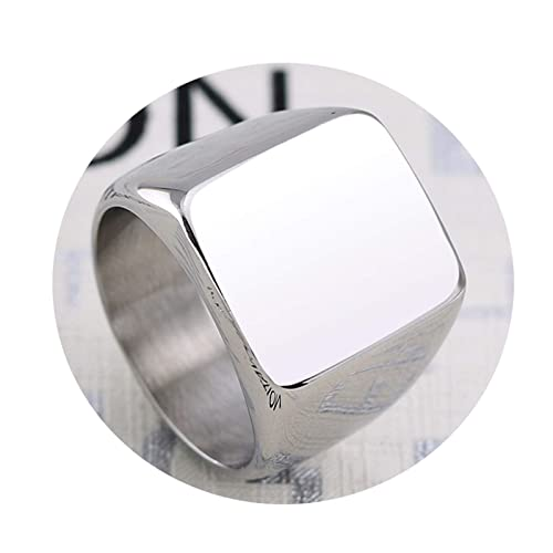 Amazon.com: Gnzoe - Anillo de acero inoxidable pulido con ...