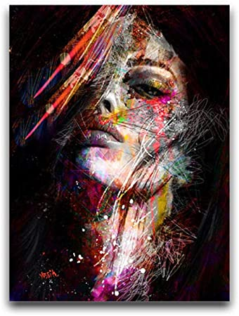Colorful Abstract Portrait Print