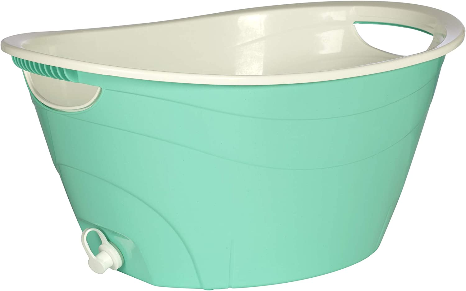 CreativeWare, Aqua Double Walled Party Tub With Drain Plug 4.375 Gl, 1