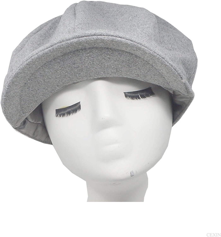 Uomo cappello in lana Newsboy Style 8/Piece Coppola a spina di pesce