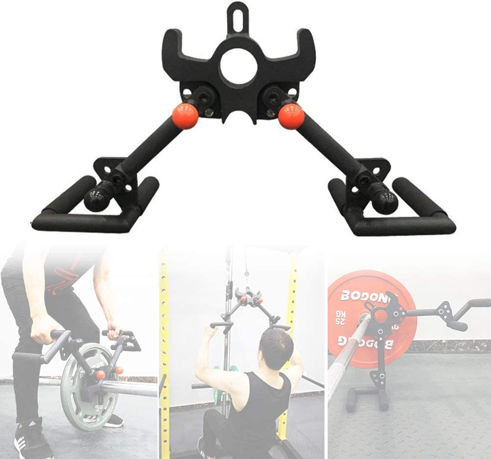 BIUDUI V Form Pull-down Rudergriff Pull Down Griff Hoher Pulldown-Griff Griff Training Fitnesszubeh/ör F/ür Fitness High Pull-Down Griff Robustes Rutschfestes
