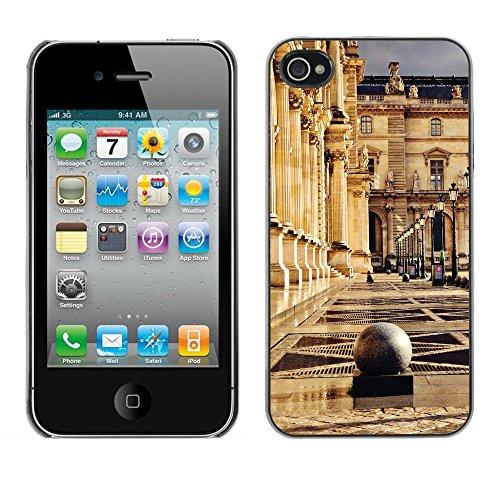 Premio Sottile Slim Cassa Custodia Case Cover Shell // F00029197 Place du musée // Apple iPhone 4 4S 4G