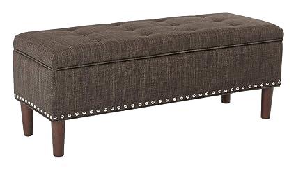 Attrayant Flip Top Storage Bench   Upholstered Storage Bench   Taupe