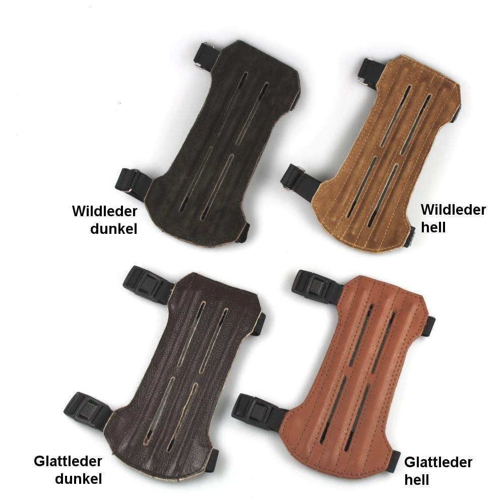 elToro Traditioneller Armschutz Kurz aus Leder Wildleder hell
