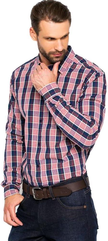 Wrangler - Camiseta de manga larga para hombre, color rojo Rojo H. R. Rojo S: Amazon.es: Ropa y accesorios