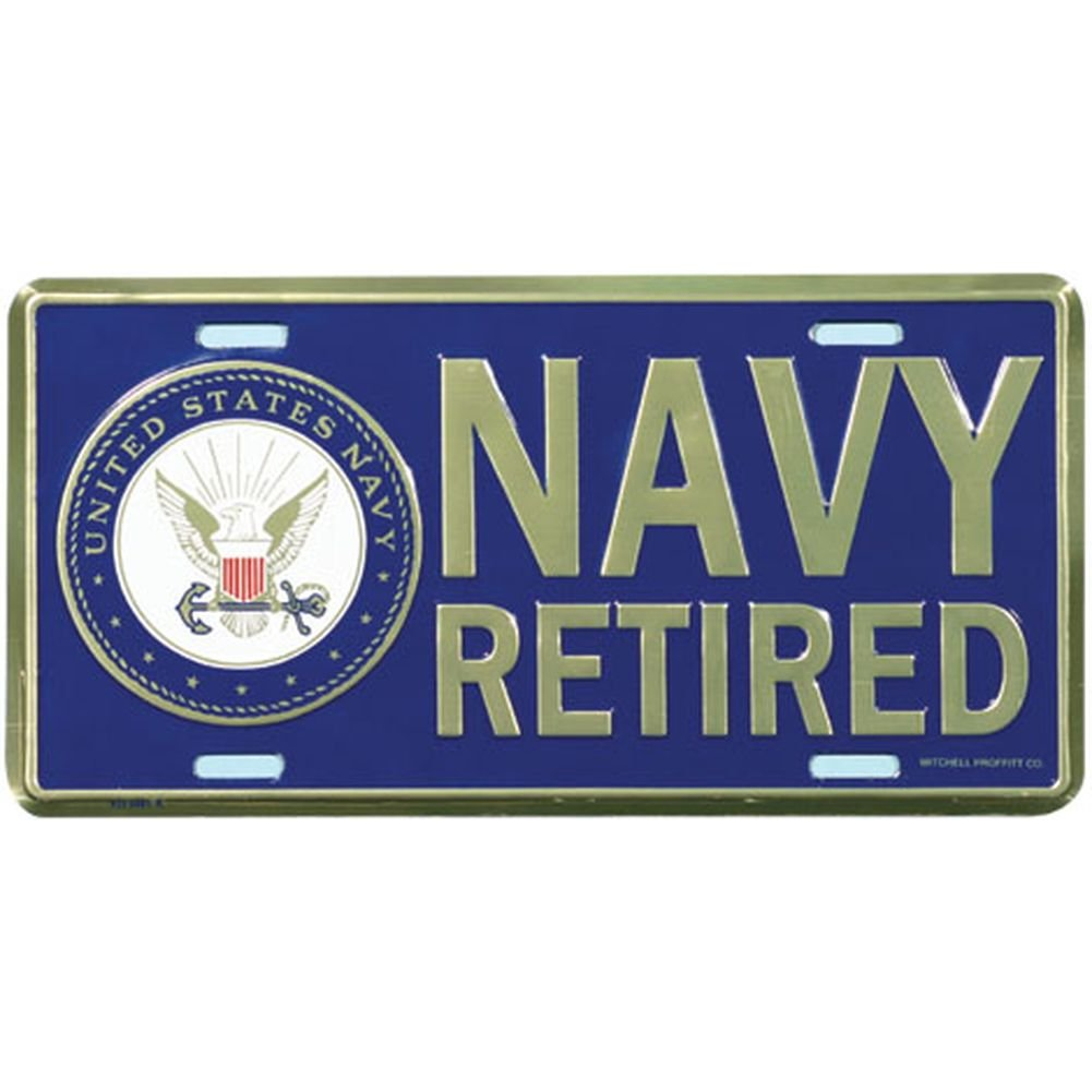 U.S Front Tag Navy Retired License Plate