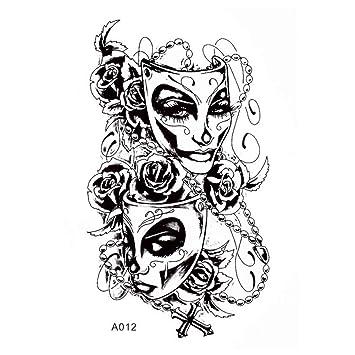 Just Fox - Tatuaje temporal, diseño de rosa, tatuaje adhesivo ...