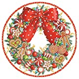 Entertaining with Caspari Candy Wreath Dinner Plates, 8-Pack