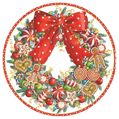 Entertaining with Caspari Candy Wreath Dinner Plates,