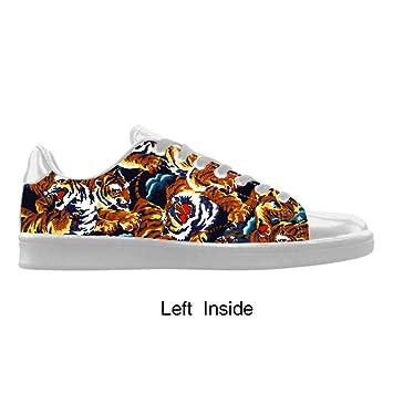Cheese - Zapatillas deportivas de hombre personalizadas, estampado de tigre, talla 44 EU: Amazon.es: Coche y moto