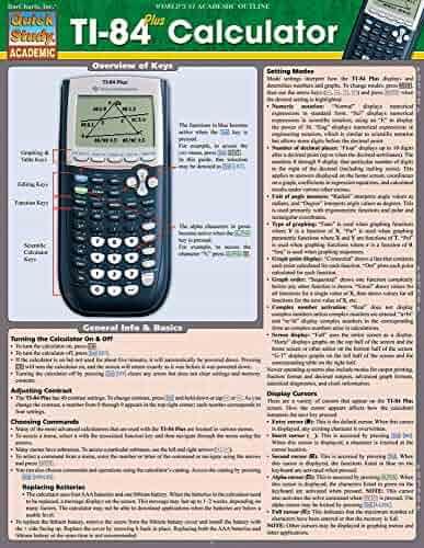 Ti 84 Plus Calculator (Quick Study Academic)