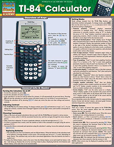 - Ti 84 Plus Calculator (Quick Study Academic)