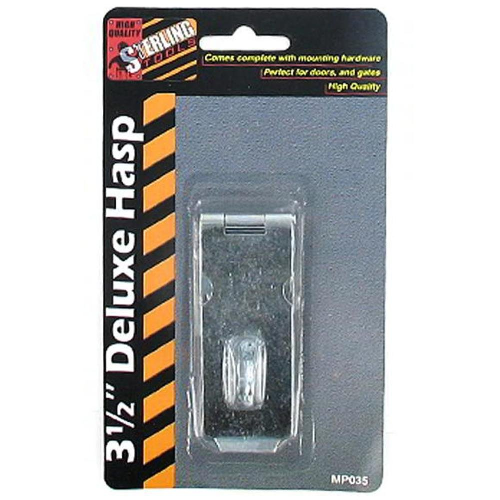 3 1/2 Inch deluxe hasp, Latches & Hasps, Hardware (Sold in a package of 72 items - $0.81 per item) by Sterling