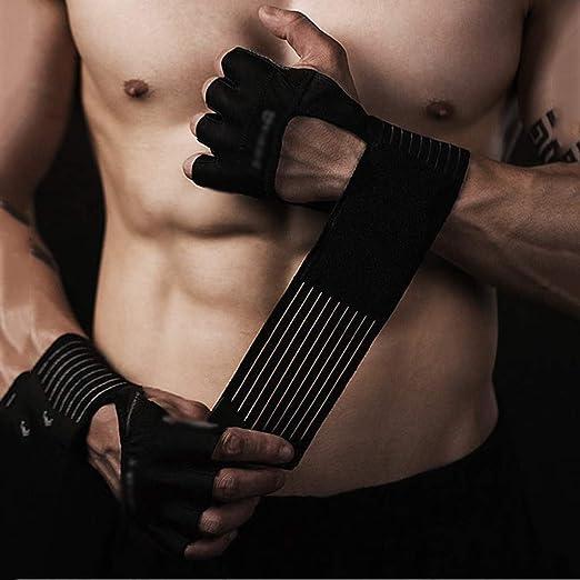 ASDF Guantes De Fitness Equipo Masculino Antideslizante Sin Dedos ...