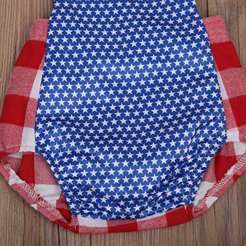Plaids Print Jumpsuit Romper s Stars amp; Baby Bodysuit Plaids Girls' Stars Full Littile Print Aliven 0YXwWZqExn